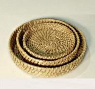 Round Cane Tray