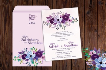 Personalised Wedding Card Template 22