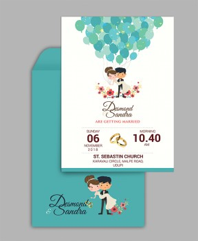 Personalised Wedding Card Template 20