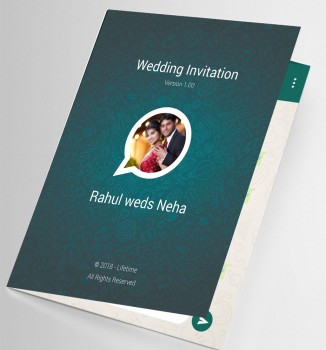 Personalised wedding cards Template 1