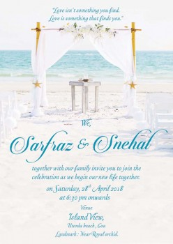 Personalised Wedding Card Template - 10