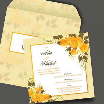 Personalised Wedding Card Template 21